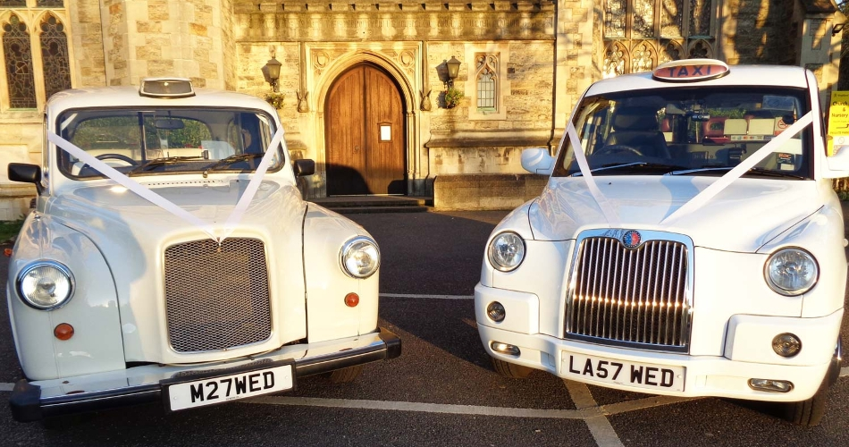 Image 1: White Wedding Taxi Hire