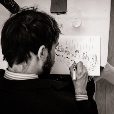 Find out more about London's Ollie Randall Wedding Cartoonist