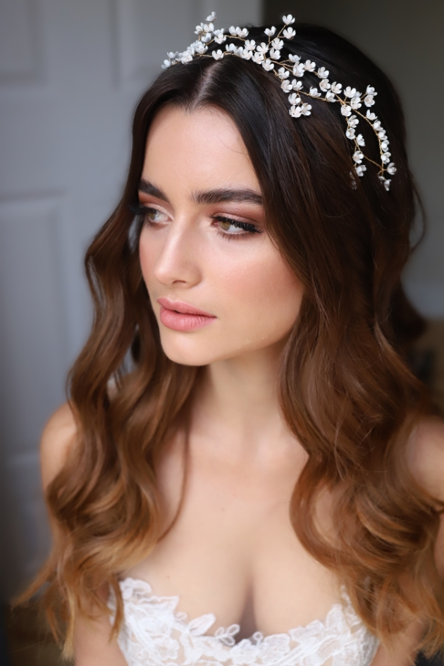 lily of the valley hair vine by make me bridal accessories