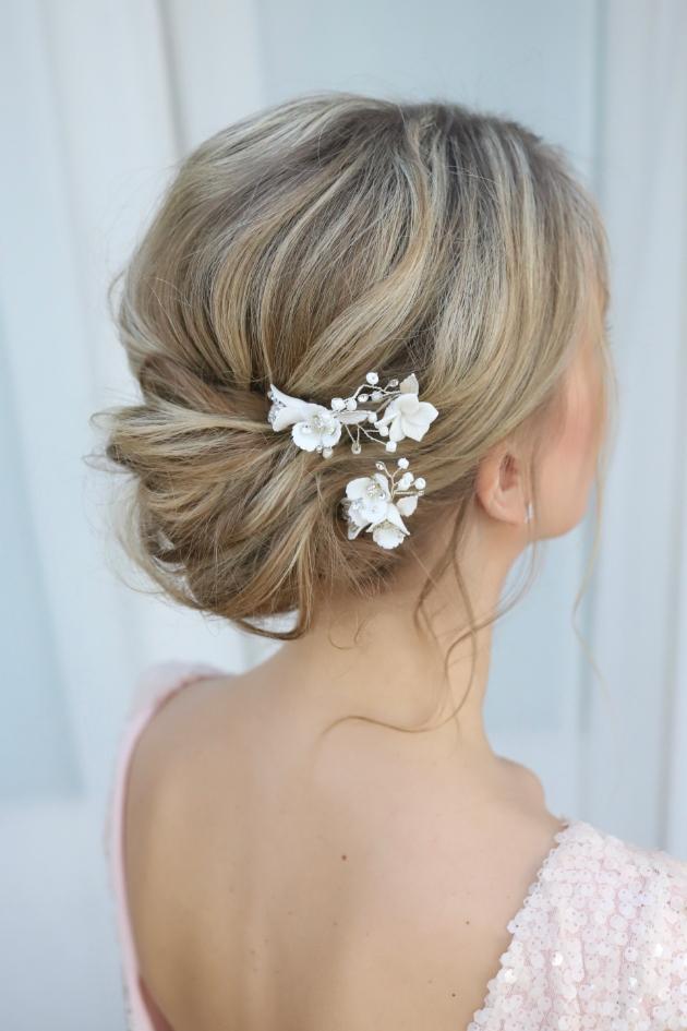 tuberose hair pins by make me bridal accessories