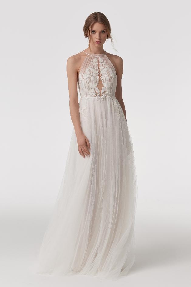 Bride wearing Chey by Anna Kara available at Blackburn Bridal Couture in Blackheath