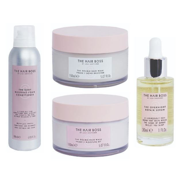 The Body Building Foam Conditioner, The Double Hair Mask, The Overnight Repair Serum