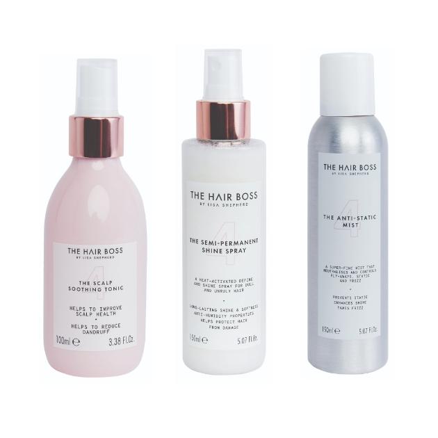 The Scalp Tonic, The Semi-Permanent Shine Spray, The Anti-Static Shine Spray