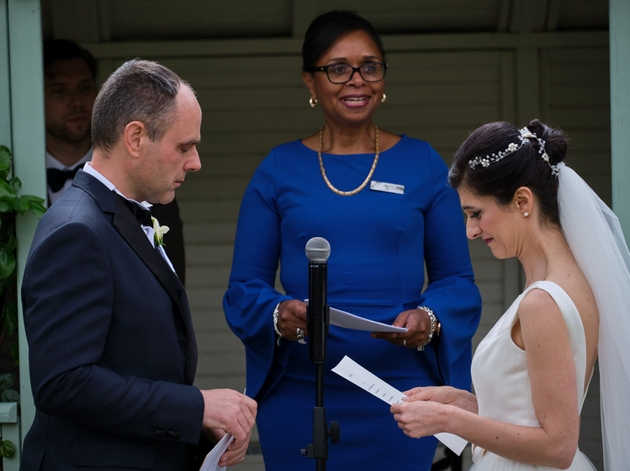 Jennifer Patrice Celebrant conducts small ceremony for bride and groom