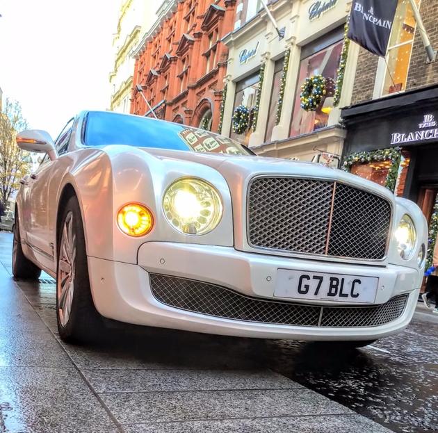 Silver Rolls Royce wedding car from London's Fox Limousines