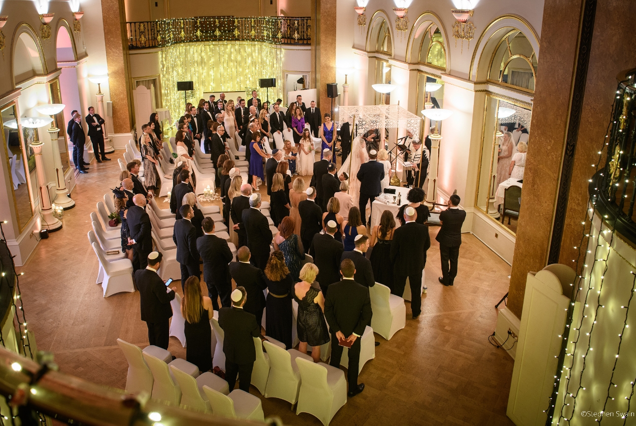 Wedding with guests held at London wedding venue The Lansdowne Club
