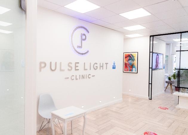 Reception area of Pulse Light Clinic in London