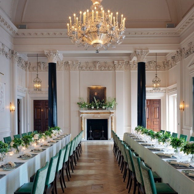 Interior of The Saloon at London wedding venue and hotel The Ned.