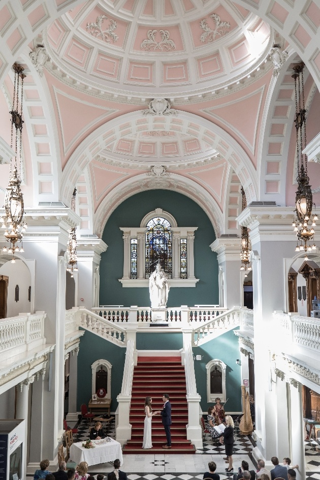 Ceremony on grand staircase