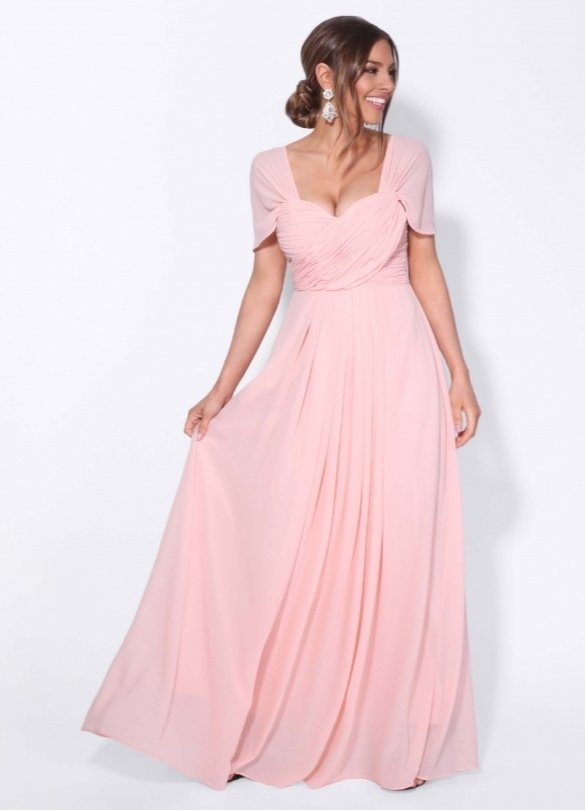 Pink multiway bridesmaid dress by KRISP Clothing