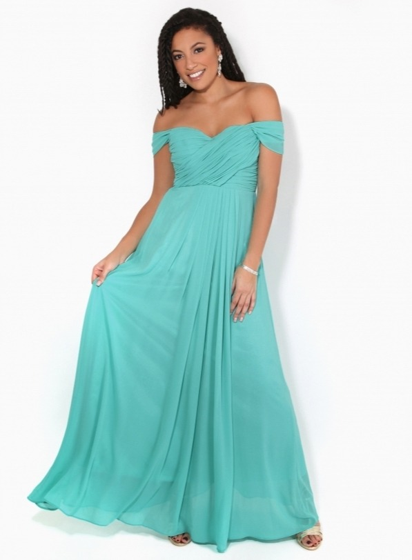 Teal multiway bridesmaids dress from KRISP clothing.
