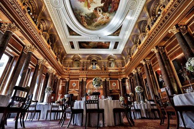 Interior of historic Central London wedding venue Drapers' Hall