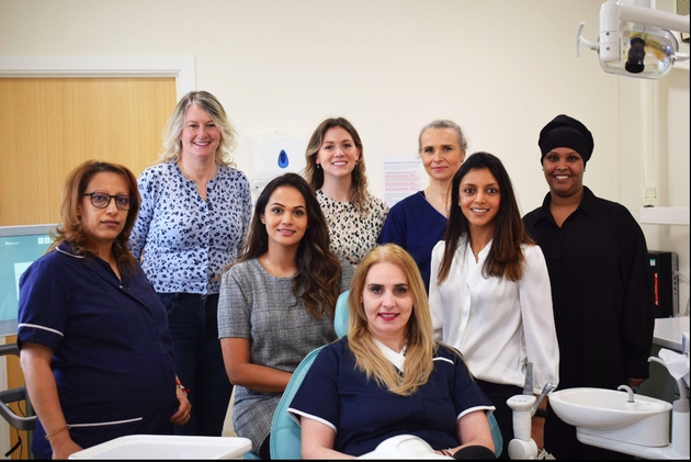 Dr Kaajal Patel and team of Lillywhite Dental Practice.